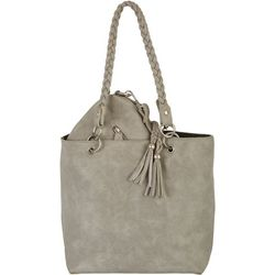 Coral Bay Grey & Black Bag In Bag Tote Handbag