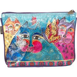 Laurel Burch Felines & Flutterbies Foiled Cosmetic Bag