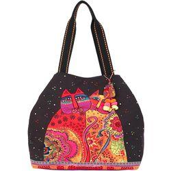 Laurel Burch Festive Felines Tote Handbag