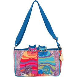 Laurel Burch Rainbow Felines Crossbody Handbag