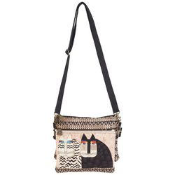 Laurel Burch Black & White Cat Mini Crossbody Handbag