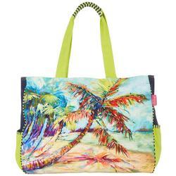 Palms Away Large Beach Bag Tote