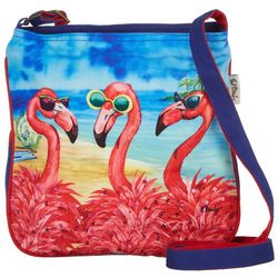 Paul Brent Flamingo Crossbody Handbag