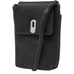 Mundi Cell Phone Pebble Leather Crossbody Wallet