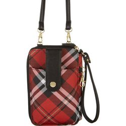 Mundi Jacqui Plaid Hands Free Crossbody Wallet