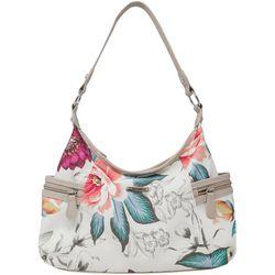 Koltov Nova Floral Print Hobo Handbag