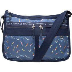 Captain's Quarters Swim Print Hobo Handbag
