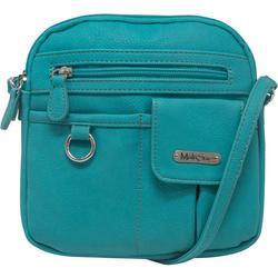 North-South Solid Crossbody Handbag