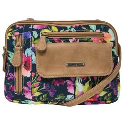 MultiSac Two Tone Zippy Wildflower Crossbody Handbag