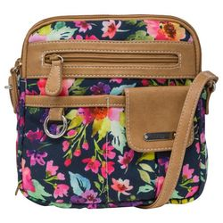 MultiSac North-South Painted Floral Crossbody Handbag