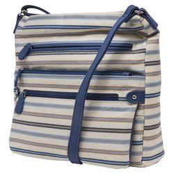 MultiSac Lorraine Blue Striped Crossbody Handbag