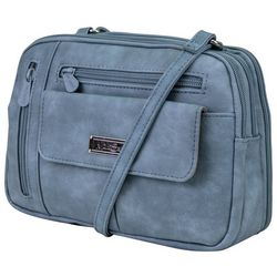 MultiSac Denim Blue Zippy Crossbody Handbag