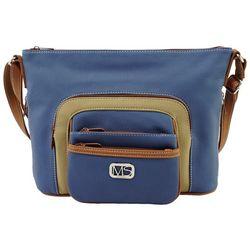 MultiSac Omega Triple Front Pocket Crossbody Handbag