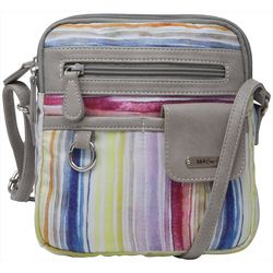 MultiSac North-South Stripes Crossbody Handbag