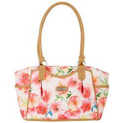 Koltov Gemma Watercolor Floral Print Shopper Handbag