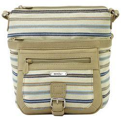 MultiSac Striped Mini Flare Crossbody Handbag