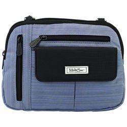 MultiSac Pinstripe Zippy Crossbody Handbag
