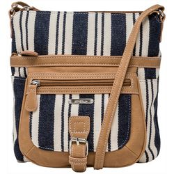 MultiSac Canvas Stripes Flare Mini Handbag