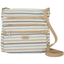 MultiSac Lorraine Striped Crossbody Handbag