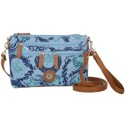 Stone Mountain Quilted Ocean Life Print Handbag