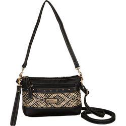 Stone Mountain Santa Fe Hobo Leather and Straw Handbag