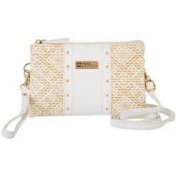 Stone Mountain Santa Fe Leather & Straw Crossbody