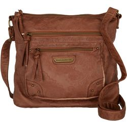 Stone Mountain Double Washed Embossed Bucket Handbag