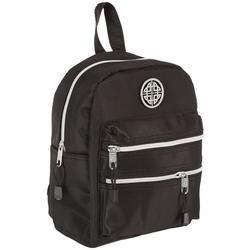 Nylon Double Zip Dome Mini Backpack