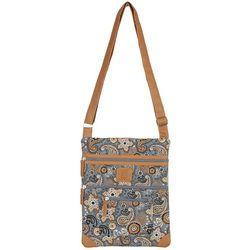 Paisley Quilted Lockport Handbag