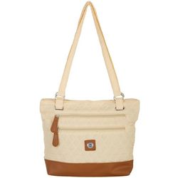 Solid Quilted Donna Tote Handbag
