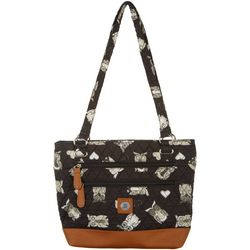 Stone Mountain Owl Quilted Donna Tote Handbag
