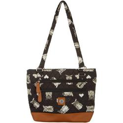 Owl Quilted Donna Tote Handbag