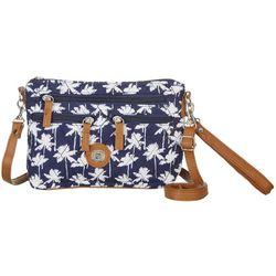 Quilted Palm Tree Handbag