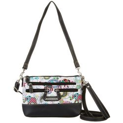 Stone Mountain 3 Bagger Elephant Print Crossbody Handbag