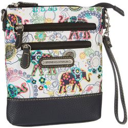 Stone Mountain Pebble Paisley Crossbody Handbag
