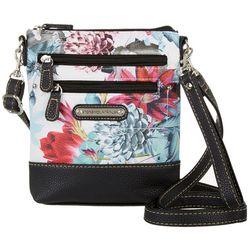Floral Pebble Crossbody Handbag