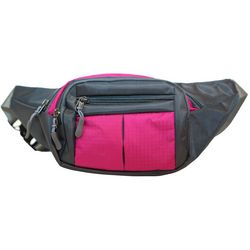 Nupouch Solid 4-Zipper Fanny Pack
