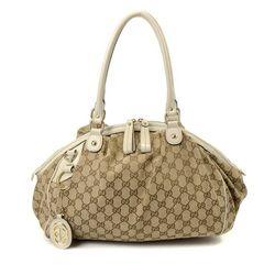 Vintage Gucci GG Canvas Sukey Shoulder Bag