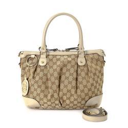 Vintage Gucci GG Canvas Sukey Handbag