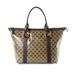 Vintage Gucci GG Crystal Bamboo Tote Bag