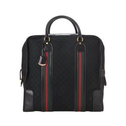 Vintage Gucci GG Canvas Web Travel Bag