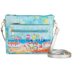 Leoma Lovegrove My Happy Place Zippered Crossbody Handbag