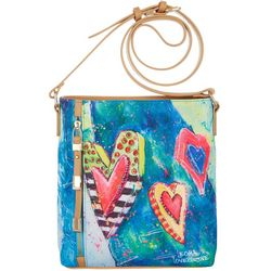 Leoma Lovegrove Hearts Of Palm Crossbody Handbag