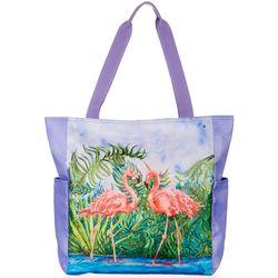 Amber Moran Retro Flamingo Beach Bag Tote