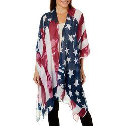 Americana Womens Stars & Stripes Kimono