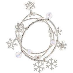 Brighten the Season Snowflake & Beaded Bracelet Set