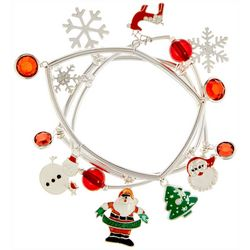 Brighten the Season Snowflake & Santa Bracelet Set