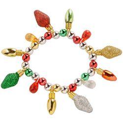 Brighten the Season Glitter Christmas Lights Bracelet