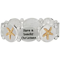 Brighten the Season Have A Beachy Christmas Stretch Bracelet