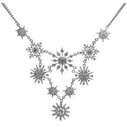 Brighten the Season Statement Snowflake Necklace
